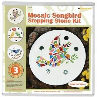 Diamond Tech Crafts K1250 Mosaic Stepping Stone Kit-Songbird