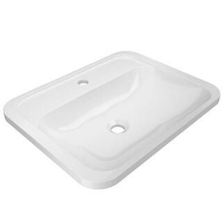 "Jacuzzi AVU2217 Avila 21-5/8"" Solid Surface Undermount Bathroom Sink with Singl - White"