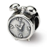 Sterling Silver Reflections Alarm Clock Bead (4mm Diameter Hole)