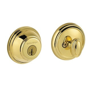 Baldwin 380-RDB-SMT  Traditional Round Single Cylinder Deadbolt from the Prestige Collection