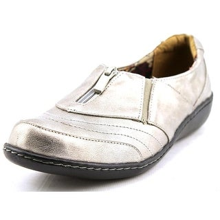 Soft Style by Hush Puppies Jennica Women W Round Toe Leather Silver Loafer