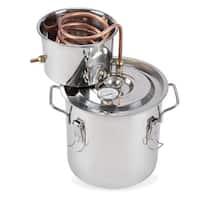 Arksen 3 Gallon 10 to 12 Liter Water Alcohol Wine Distiller Boiler Kit for Home Brewing, Stainless Steel