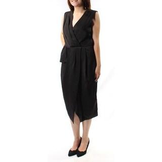 RACHEL ROY $139 Womens 1177 Black Sleeveless Below The Knee Evening Dress 8 B+B