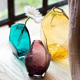 G Home Collection Rustic Various Hand Blown Glass Vase