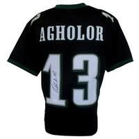 Nelson Agholor Signed Custom Black Pro-Style Jersey JSA ITP