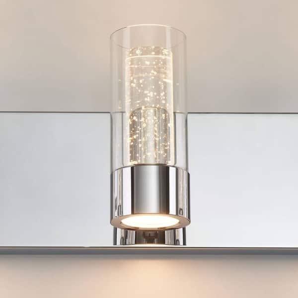 Artika Ratio Bathroom Vanity Light Fixture 4 Light Chrome Finish Overstock 31893803