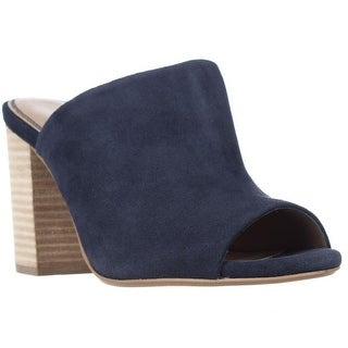 Splendid Birch Mule Stacked Heels - Navy