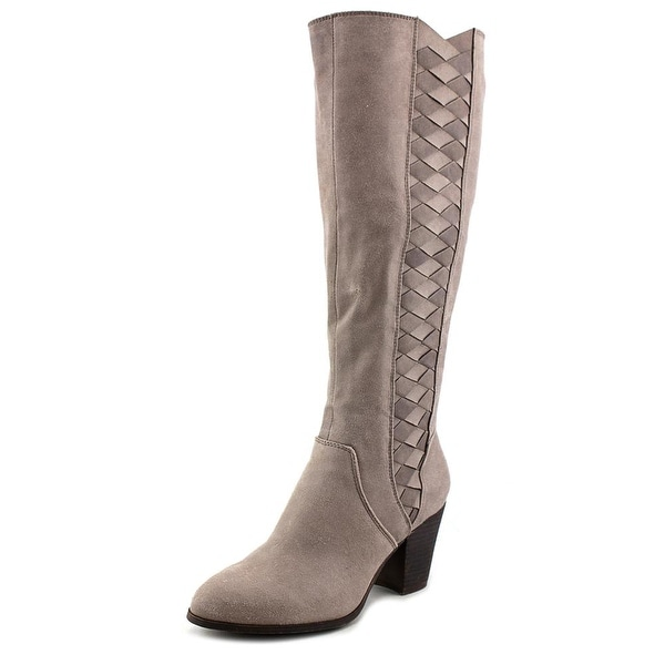 Fergalicious Cally Women  Round Toe Leather Gray Knee High Boot