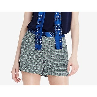 Diane von Furstenberg NEW Blue Womens Size 8 Jerri Printed Dress Shorts