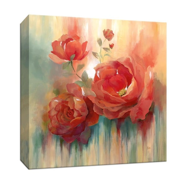 """PTM Images 9-147062 PTM Canvas Collection 12"""" x 12"""" - """"Arbor Red III"""" Giclee Flowers Art Print on Canvas"""