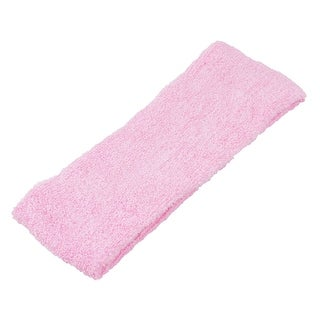 Link to 2 Pieces Pink Gym Badminton Tennis Sports Terry Sweatband Head Band Similar Items in Hair Accessories