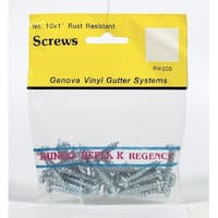 Genova RW205 Rustproof Screws, For Mounting Brackets & Fittings, Pack-25