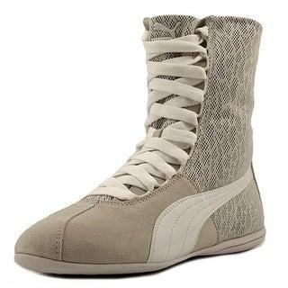Puma Eskiva Hi Textured Women Round Toe Leather White Sneakers