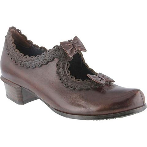 Spring Step Women's Jezebel Pump Chocolate Brown Leather