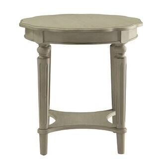 End Table In Antique Slate - Mdf, Solid Wood Leg Antique Slate