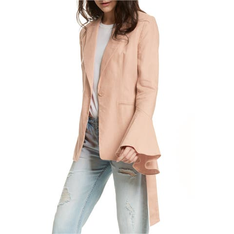 Free People Womens Belted One Button Blazer Jacket