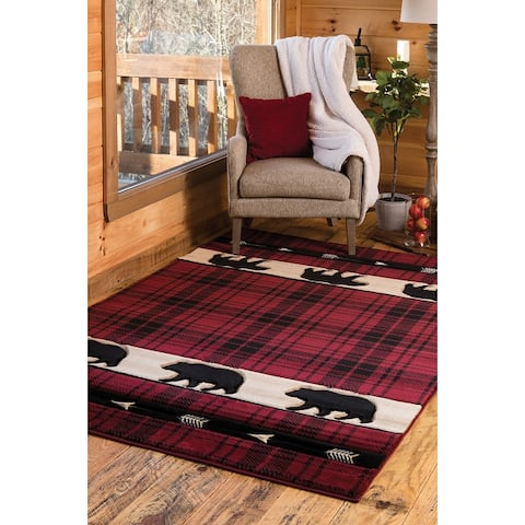 Westfield Home Graham Bear Mountain Hand-Carved Area Rug