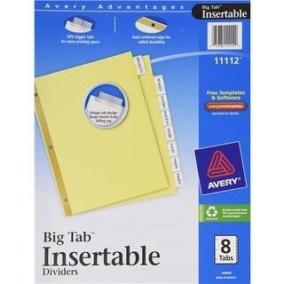Avery 11112 8 Tab Clear WorkSaver Big Tab Paper Dividers Dividers 8tab Index