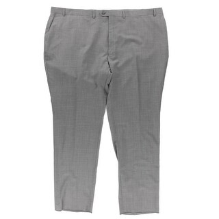 Shaquille O'Neal Mens Dress Pants Wool Classic Fit