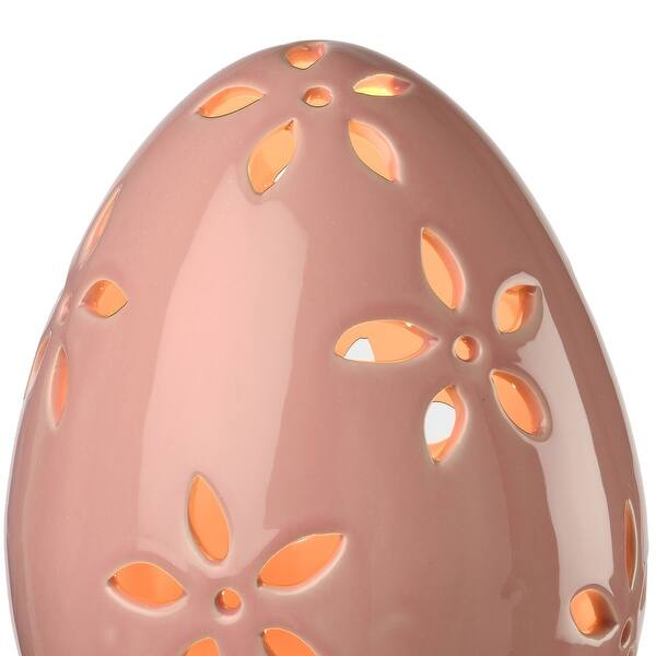 Set Of 2 Pre Lit Pink And Green Led Lighted Easter Egg Decor 7 Overstock 30943826