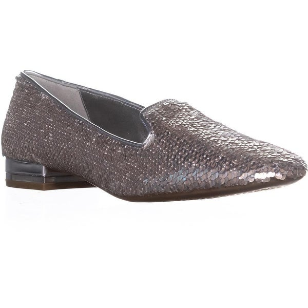 MICHAEL Michael Kors Alyssa Slip On Loafers, Silver - 9.5 us / 39.5 eu