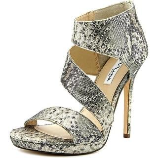 Nina Faust Women Open Toe Canvas Gold Sandals