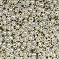 True2 Czech Glass, Round Druk Beads 2mm, 200 Pieces, Silver Plated AB - Thumbnail 0