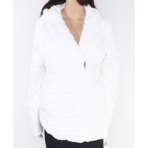 The North Face Women's White Size Large L Mossbud Swirl Parka Jacket