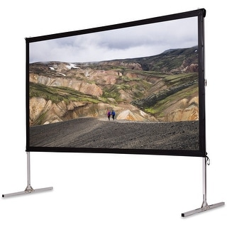 Gymax 120'' Standing Portable Fast Folding Projector Screen W/Carry bag Indoor Outdoor - as pic