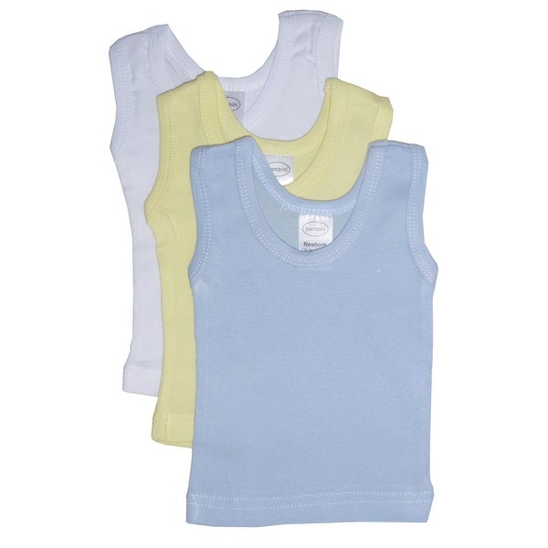 Bambini Boys Pastel Tank Top 3 Pack - Size - Newborn - Boy