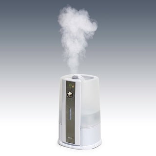 Della Ultrasonic Humidifiers Warm & Cool Mist Humidifier LED Humidity Sensor Large (8L) Capacity, White