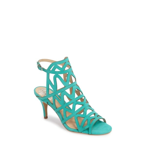 Vince Camuto Womens Prisintha Suede Open Toe Special Occasion Ankle Strap San...