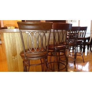 Shop Linon Bronze Bar Stool Elliptical Back Design Free