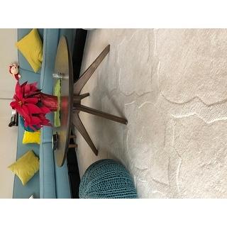 Strick & Bolton Starling Handmade Wool Trellis Area Rug