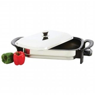 T304 Stainless Steel Non-stick Rectangular Electric Skillet- Stick