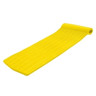 5.8' Yellow Super Soft Swimming Pool Serenity Float with Head Rest