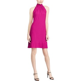 American Living Womens Cocktail Dress Mock Neck Pleated
