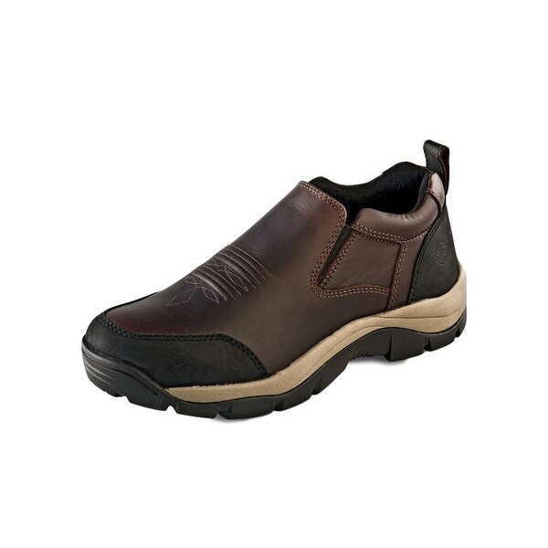 Old West Casual Shoes Mens Rubber Padded Elastic PU Oiled Rust