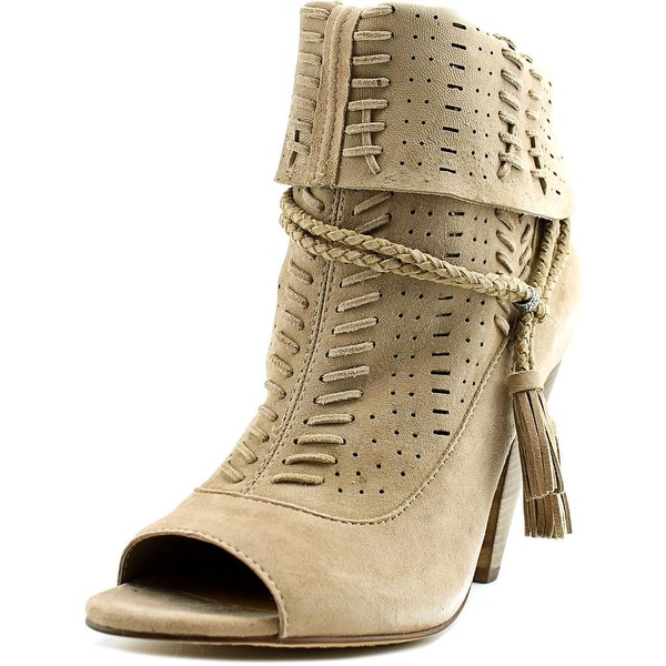 Dolce Vita Maddox Women Open-Toe Suede Brown Ankle Boot