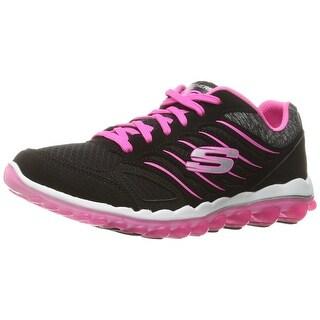 Skechers Sport Women's Skech Air 2.0 City Love Fashion Sneaker, Black/Hot Pink