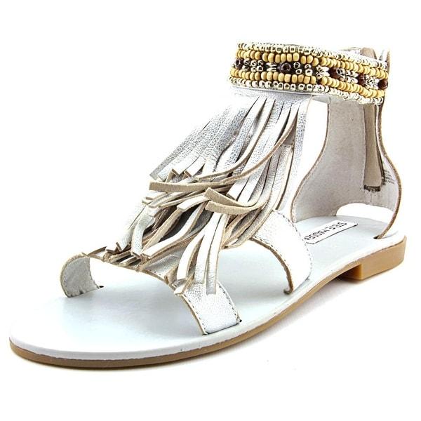 c08b8a0b9ed7 Shop Steve Madden Giaani Women Open Toe Leather Silver Sandals ...