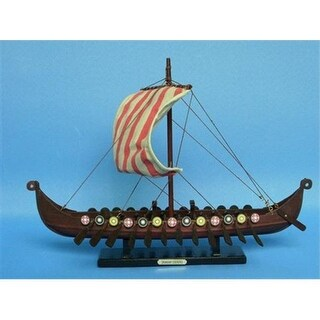 Viking Drakkar 14 in. Decorative Tall Model Ship