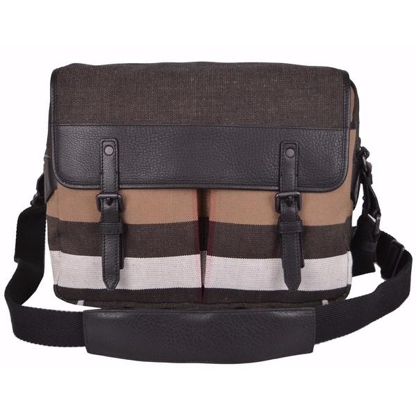 2998def6c Shop Burberry Men's Canvas Nova Check Addison Messenger Crossbody Bag -  Free Shipping Today - Overstock - 12192080