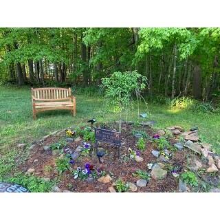 """47"""" EcoDecors Kent Garden Indoor or Outdoor Solid Teak Bench in EarthyTeak Finish"""