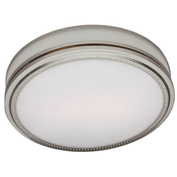 Hunter Home Comfort 83001 Riazzi 110 CFM 3.0 Sone Ceiling Mounted HVI Certified - brushed nickel with cased glass