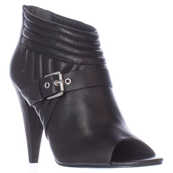 Sigerson Morrison Myla Open-toe Ankle Boots, Black