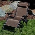 Sunnydaze Dark Brown Oversized Zero Gravity Lounge Chair - Thumbnail 1