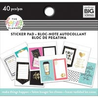 Happy Planner Tiny Sticker Pad-Make Things Happen, 40/Pkg