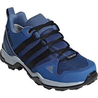 adidas Children's Terrex AX 2.0 R Climaproof Hiking Shoe Blue Beauty/Black/Ash Grey