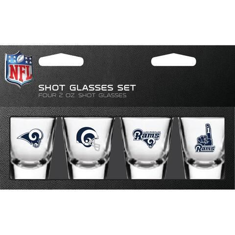 Los Angeles Rams Shot Glass 2oz 4 Pack